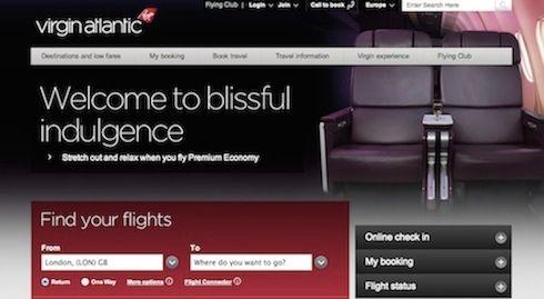 Virgin Atlantic Website
