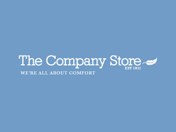 In addition to comforters and kids supplies, you'll save on much more with The Company Store online coupons. The Company Store's offerings include: Fluffy bath towels and bath sheets with coordinating bat accessories; Bath rugs, shower curtains, robes, slippers, and more; Sheet sets in a variety of prints, colors, and sizes; Monogramming options for many products; The Company Store is on stand-by 24/7 .