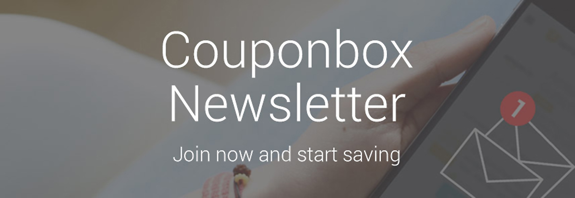 Couponbox Newsletter ≫ Join now and start saving